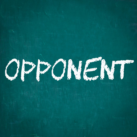 opponent: OPPONENT written on chalkboard Stock Photo