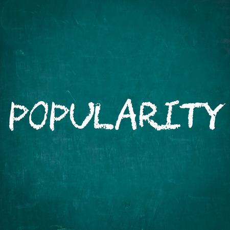 popularity: POPULARITY written on chalkboard