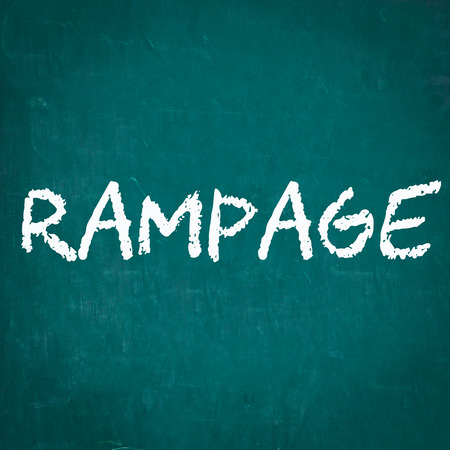 rampage: RAMPAGE written on chalkboard Stock Photo