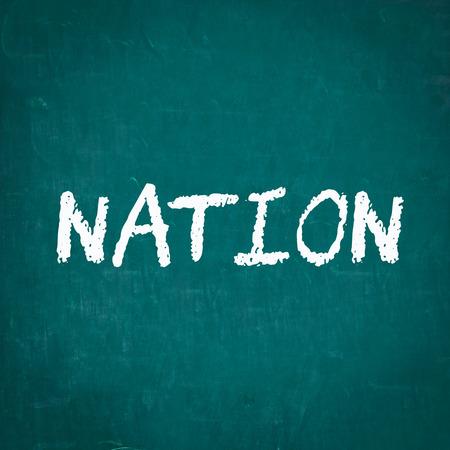 nation: NATION written on chalkboard