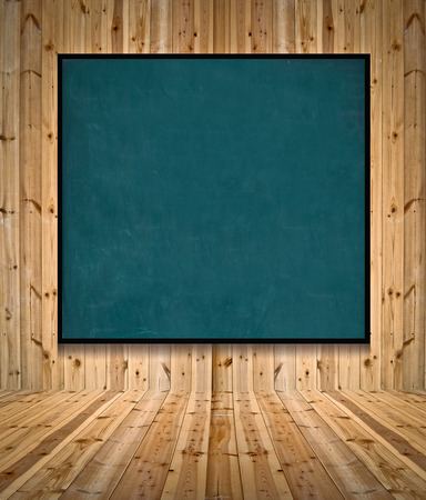 defense facilities: Blank advertising billboard in Interior room
