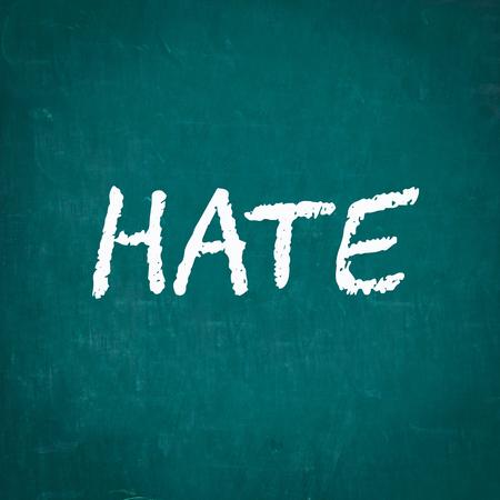 hate: HATE written on chalkboard Stock Photo
