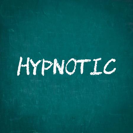 hypnotic: HYPNOTIC written on chalkboard