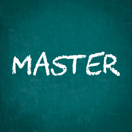 master: MASTER written on chalkboard