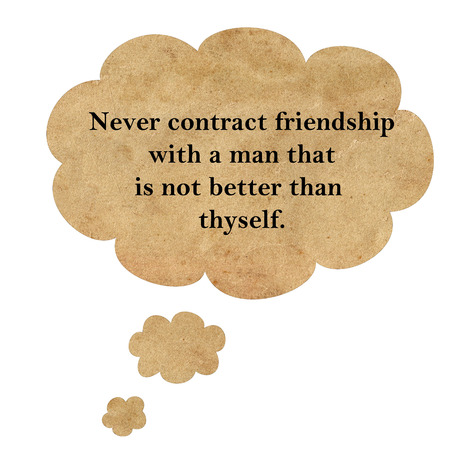 confucius: Inspirational quote by Confucius on speech bubble paper