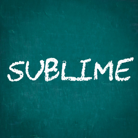sublime: SUBLIME written on chalkboard Stock Photo