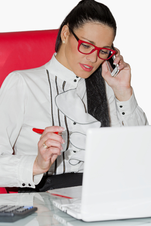 Portrait of the young woman at office Stock Photo