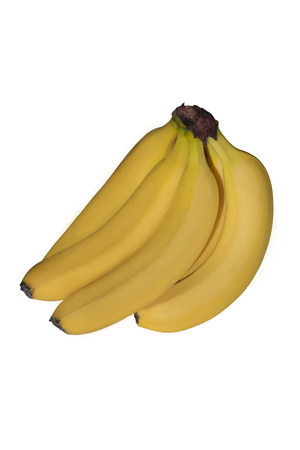 Cluster of bananas on a white background Stock Photo