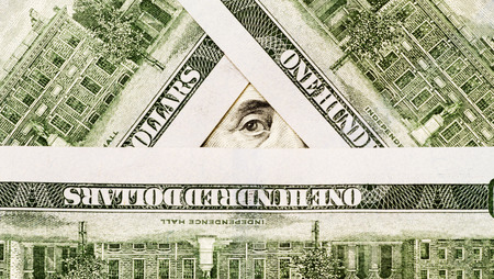 Symbol of illuminates from dollar notes