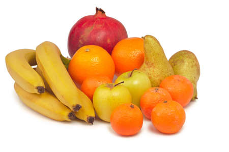 tropical fruit  isolated on white background photo
