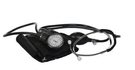 sphygmomanometer isolated on white background photo