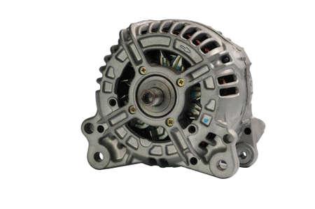 alternator: Alternator isolated on white background