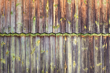 Old wooden fence, wall background