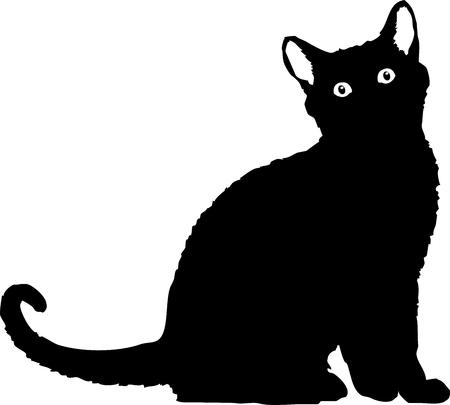 file of a black cat silhouette Standard-Bild - 120430948