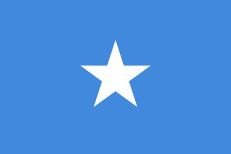 The Flag Of Somalia. Color and aspect ratio are observed.