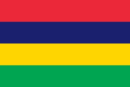 The Flag Of Mauritius. Color and aspect ratio are observed. Ilustração