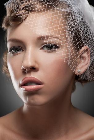 Close-up portrait of a sensual bride  photo