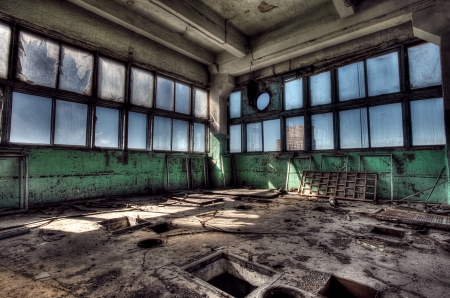 abandoned factory: Old abandoned factory, indoors. Hdr image