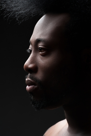 manful: Portrait of handsome young african american man