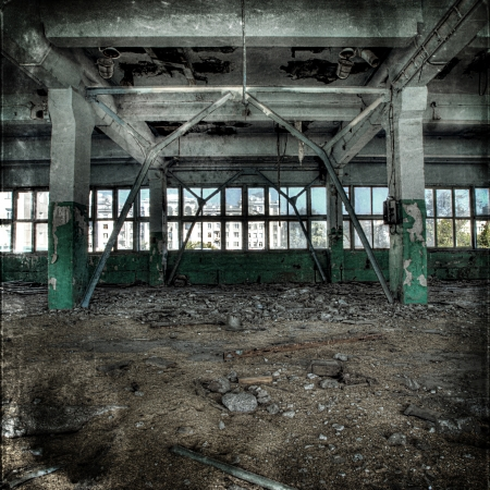 Old abandoned factory, indoors  Stock Photo - 23205602