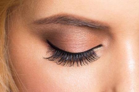 image style: Closeup image of beautiful woman eye with fashion bright makeup Stock Photo