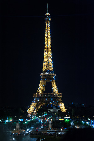 towers: The beautiful Eiffel tower in Paris at night
