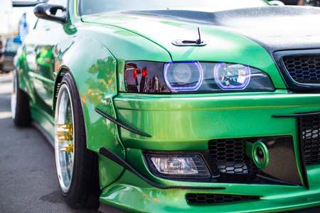 car, tuning, green
