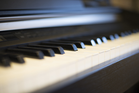 piano, background, music, classics, black white, background Stock Photo