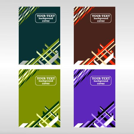Vector template for brochure or cover with abstract elements