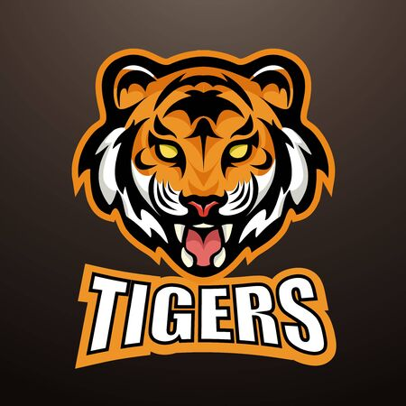 tiger with title sports mascot color   illustration 일러스트