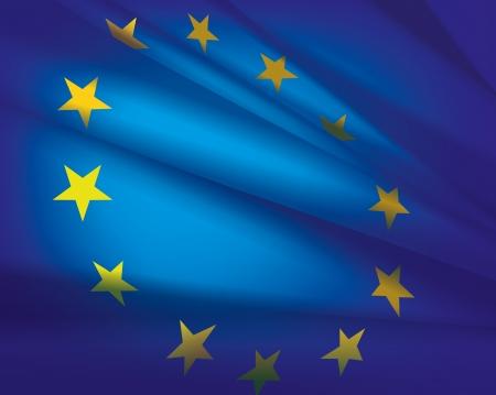 Európai unió zászló vektoros illusztráció