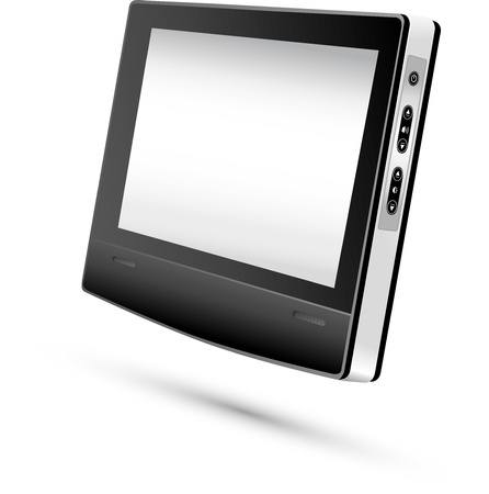 gprs: Monitor Display  Vector illustration   Illustration