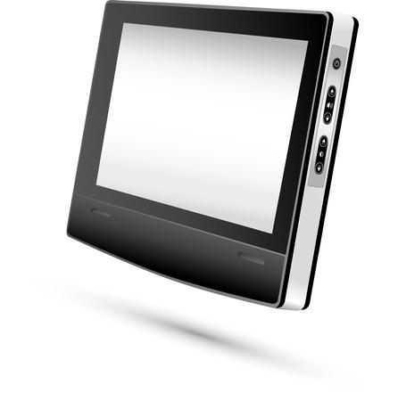 Monitor Display vektoros illusztráció
