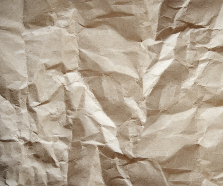 Recycled brown paper background in close up, Vintage paper