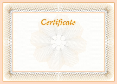 Vector certificate background  Classic border for diploma or certificate