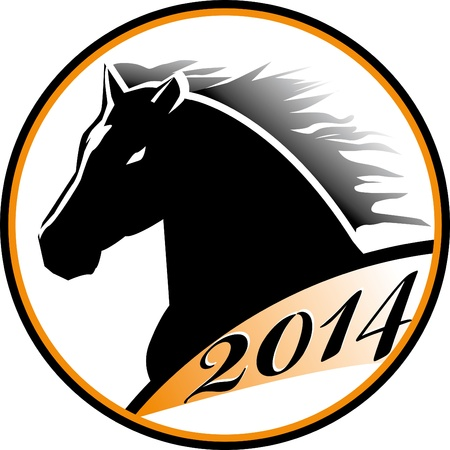 The stylized head of a black horse  Horse head icon Stock Vector - 21611326