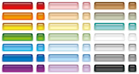 Vector illustration set of color web buttons