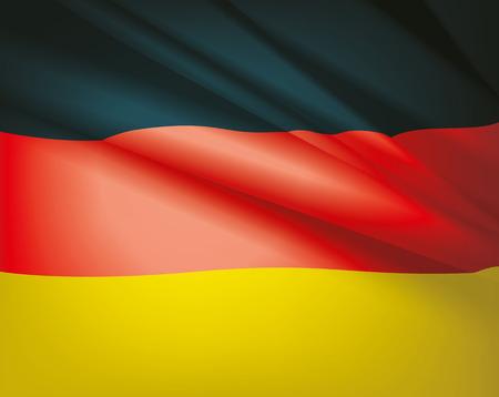 Integetett a német zászló, vektor gyönyörű háttér