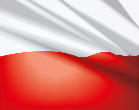 bounds: Waving flag of Poland, vector beautiful background Illustration