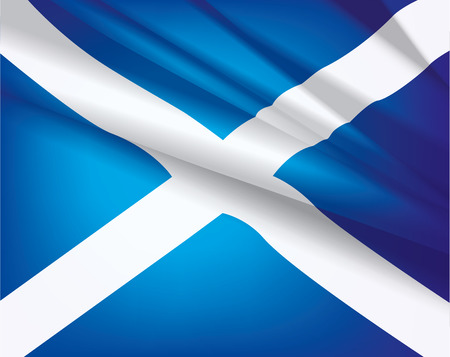 Scotland flag waving in the wind, vector beautiful background