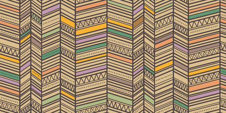 Trendy simple seamless zigzag pattern. Multicolor tribal vector seamless pattern. Aztec fancy abstract geometric art print. Ethnic hipster background.
