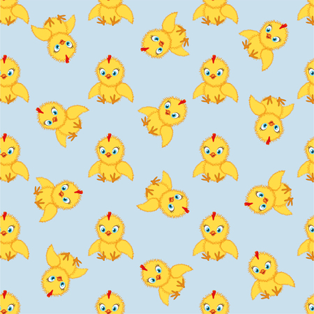 Baby chickens set isolated on white background. Cute cartoon chicken set. Funny yellow chickens in different poses, vector illustration. Illustration