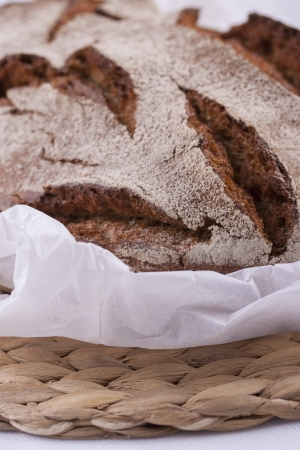 macrophotography: Close up picture of a well done crispy bread