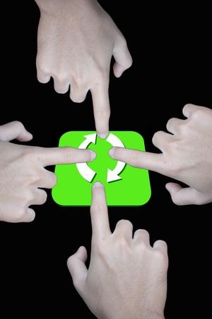 reciprocate: Finger pushing a go plan reverse Symbols