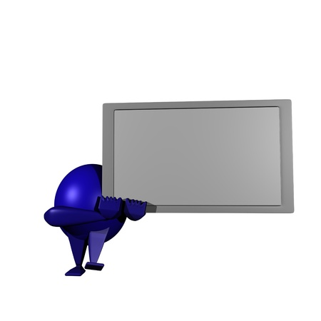 Robot,White board Stock Photo - 12270334