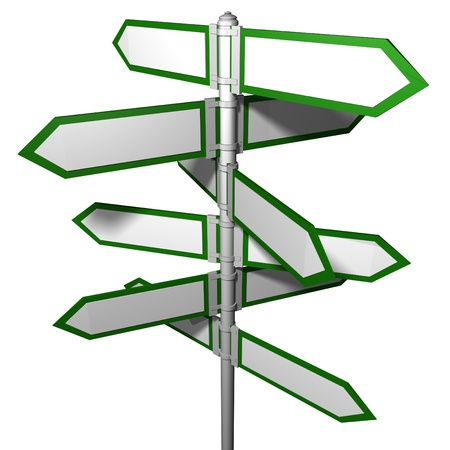Blank signpost(Precise clipping path included for easy background change) photo