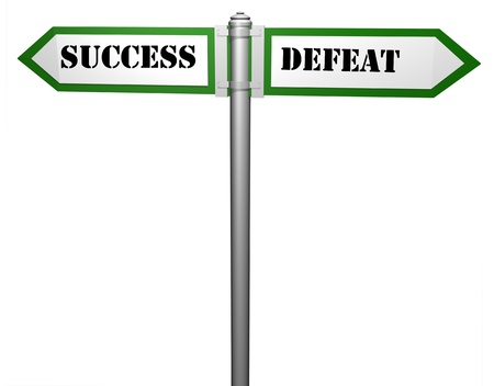 signpost,Success and defeat photo