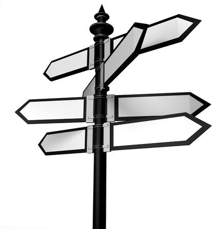 changing form: Blank signpost Stock Photo