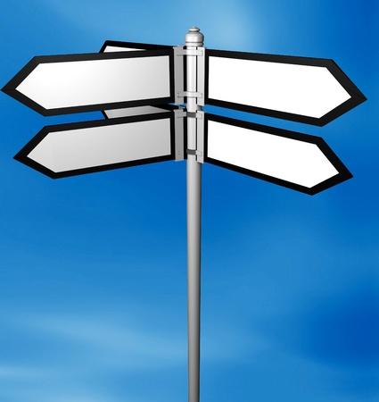Blank signpost easy background change Stock Photo - 12609219