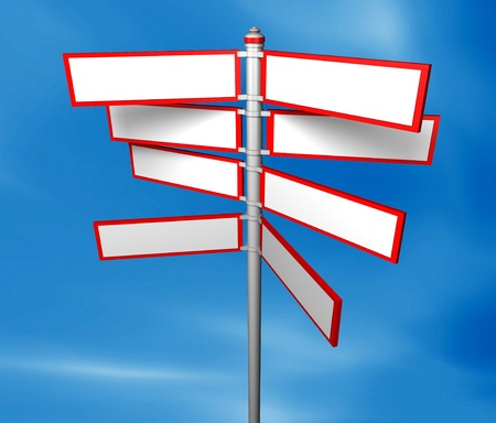 Blank signpost easy background change photo